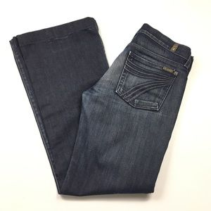 7 For All Mankind DOJO Flare Dark Jeans Size 28
